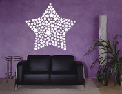 Wall Vinyl Sticker Decals Mural Room Design Pattern Art Decor Star Modern Ornament Abstract mi470