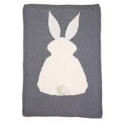 Vovotrade Baby Kids Rabbit Knitting Blanket Bedding Quilt Play Blanket