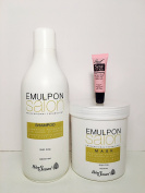 "Helen Seward Emulpon Salon Nourishing Cosmetic Shampoo and Mask Shea Butter 33.8 Oz ""Receive Starry Lipgloss 10 Ml"""