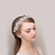 Yishenyishi Crystal Diamond Bride Bridal Wedding Hair Head Band Wear Pearl Rhinestone Jewellery Headdress Headband Hair pins Hair Clips