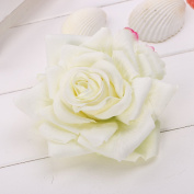 Merroyal Rose Hair Flower Clip and Pin for women and Girl