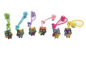 6PCS Cut Owl Elastic Hair Ties Hair Rope Holder Bands Ponytail Holders Set For Little Girls Toddlers Baby