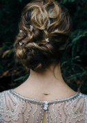 Missgrace 5PCS Bridal and Bridesmaid Handmade Crystal Hair Pins Clips for Women Hair Styling