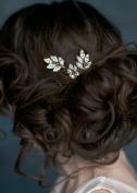 FXmimior 3 PCS Bridal Women Vintage Wedding Party Hair Pins Crystal Hair Accessories