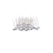 30 Pcs Women's Fashion Wedding Bridal Clear Crystal Rhinestone Hair Pins Clips
