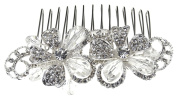 Enchanting Wedding Bridal Comb of Sparkling Pavé Rhinestone & Crystal Petals for Wedding, Prom, Quinceañera or Other Special Events