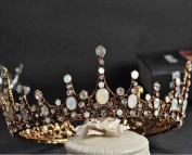 Aukmla Bridal Wedding Tiara Crown Baroco Style for Women and Girls