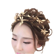 BININBOX Wedding Lady Hair Gold Dragonfly Jewellery With Bead For Women Bridal Bridesmaids Headpiece Head Band Accessorie