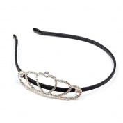 RUNHENG Women Rhinestone Crystal Beaded Crown Headband / Hairband
