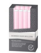 My Beauty Spot Professional Salon Quality Rubber Hair Rollers Light Pink