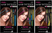 3 Pack Maddyloo Temporary Hair & Body Tattoos - Shimmery METALLIC Collection - Gorgeous Art for your Hair & Skin OVER 300 tattoos on 6 separate tattoo sheets!