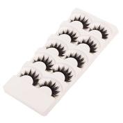 HENGSONG Soft 5 Pairs Long Thick Makeup Long False Eyelashes Fake Eye Lashes