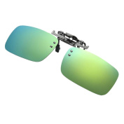 TONSEE Detachable Night Vision Lens Driving Metal Polarised Clip On Glasses Sunglasses
