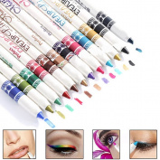SAMGU 12PCS Waterproof Plastic Glitter Lipliner Eye Shadow Eyeliner Pen Cosmetic Makeup Sets Professional Beauty Supplies