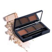 DONGXIUB 3 Colours Eyeshadow Shimmer Eye Highlight Palette Cosmetic Brush Makeup Set