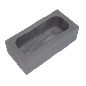 High Purity Refining Graphite Casting Melting Ingot Mould Graphite Crucibles for Gold Silver Aluminium Metals (125x80x40