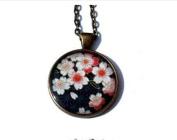 Cherry Blossom Necklace, Sakura Necklace, Sakura Jewellery, Japanese Flowers, Flower Necklace, Pink Flower