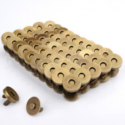 Z-colour 100 Sets Tone Magnetic Buttons Snap Clasps For Handbag Purses, DIY Accessories,Bags, Jackets, Covers etc