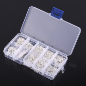 650Pcs Jewellery Making Findings Starter DIY Kit Tools Beads Head Pins Chains Findings Handmade Accessories Silver with Box