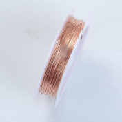 Rose Gold Colour Wire 24 Gauge,Thickness 0.5MM WRG-101-24G
