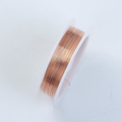 Rose Gold Colour Wire 28 Gauge,Thickness 0.3MM WRG-101-28G