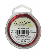 22 Gauge Red Artistic Copper Wire Spool 15 Yards Jewellery Making Beading Wire Spool