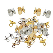 Jili Online 50 Pieces Alloy Mixed Style Hair Accessories Finding Craft DIY Clasps