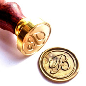 Vooseyhome Initial Letter Alphabet B Wax Seal Stamp with Rosewood Handle
