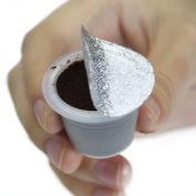 Purposefull 220pcs Self Adhesive Aluminium Foil Lids for Nespresso Coffee Capsules-Compatible All Nespresso® Original Line Capsules