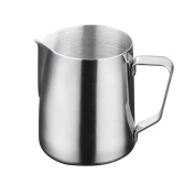 OUNONA 1000ml Stainless Steel Frothing Pitcher Milk Frothing Jug Latte Pourer Cappuccino Coffee Jug