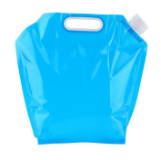 AsentechUK® Blue Portable Folding Water Storage Bag Camping Hiking BBQ Survival Water Container