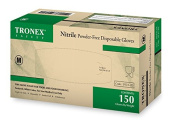 Tronex- Nitrile Disposable Gloves, Powder-Free, Fingertip-Textured, Latex Free, Food Safe, White, X-Large