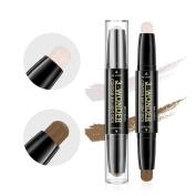 Multifunctional Concealer Contour Highlight Stick 3D Face Double-ended 2 Colours Perfect Concealing Blemish Makeup Face Bright Pen (102