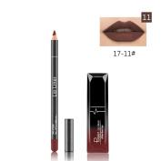 Baomabao Lipstick Waterproof Matte Liquid Gloss Lip Liner Long Lasting Cosmetics Set