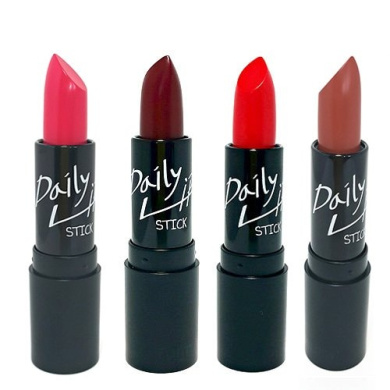 Farmstay Make Up Series Daily Lip Stick 3.4g 4 Types Pink Red Burgundy Marsala (Red)