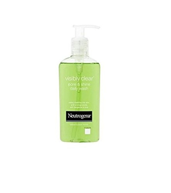 Neutrogena Visibly Clear Pore & Shine Daily Wash (200ml) + FREE Revlon Age Defying Wrinkle Remedy Line Filler, 0.41 Oz