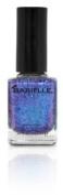 B Nail Shade Shooting Star, A Metallic Blue/Purple Glitter