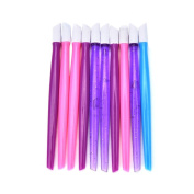 WISHNAIL 10X Cuticle Pusher Plastic Foils Nail Art Hoof Stick Tools Wrap Applications