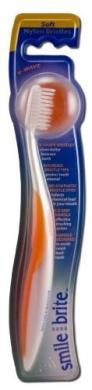 Smile Brite Fixed Head Toothbrush Nylon Bristles V-Wave Soft