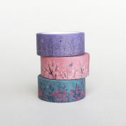 3 Rolls of Floral Washi Tapes Bundle / Japanese Washi Tape / Masking tape / Best Seller / Lunarbay Washi Tape / Lunarbaystore.com