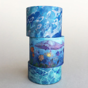 3 Rolls of Washi Tape Bundle Package / Basic Washi Tape / Lunarbay Washi Tape / Best Seller / Lunarbaystore.com