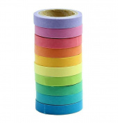 Washi Tape Set Hosaire 10x Decorative Washi Rainbow Candy Colour Sticky Paper Masking Adhesive Tape Scrapbooking DIY
