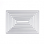 LIYUDL 8pcs Rectangle Cutting Dies Stencil Template DIY Scrapbook Paper Album Card Embossing Craft Decoration