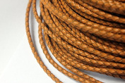 5 Yards 3mm Genuine Leather Bolo Cord, Woven Braided Leather Strap for Bracelet Necklace Cord