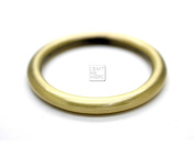 CRAFTMEmore 4PCS Inside 3.2cm Metal O Ring Welded Leather Craft Ring Buckle O-Ring Gag (Brushed Gold