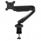 Bush Business Furniture Adjustable Monitor Arm in Satin Black