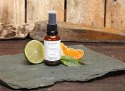 Lime, Basil and Clementine Happy Natural Room Spray With Essential Oils By Made By Coopers. 30ml Glass Bottle