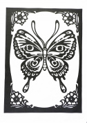 The Vintage Butterfly - Large Cotton Tea Towel by Half a Donkey