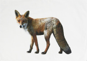 The Big Ginger Fox - Large Cotton Tea Towel by Half a Donkey