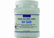 Earth Bound Kids 100% Premium Dead Sea Bath Salts / Pure Mineral Rich Salts are Naturally Calming and Soothing and Promote Restful Sleep / Softens and Balances Dry Skin